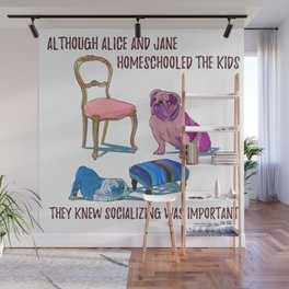 animals with chairs #3 Homeschooling Wall Mural