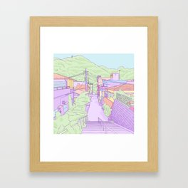 Another everyday place in Japan Framed Art Print