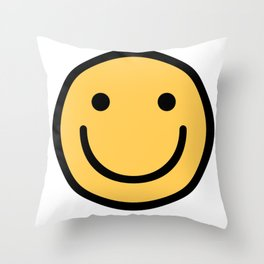 Smiley Face   Cute Simple Smiling Happy Face Throw Pillow