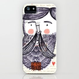 Bearded Lumberjack Man iPhone Case