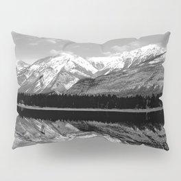 Black and White Mountains Pillow Sham