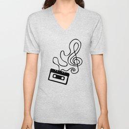 Clef Tape Unisex V-Neck