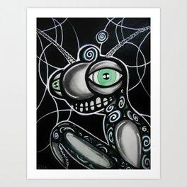 Grasshoppin martix stlye Art Print