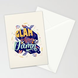 Too glam to give a damn Stationery Cards