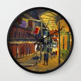Nola at Night Wall Clock