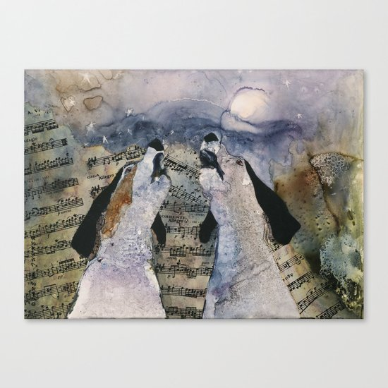 "Once in a ""Blue Tick"" Moon Canvas Print"