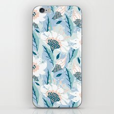 Hand drawn pattern with white flowers iPhone & iPod Skin