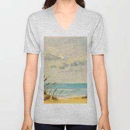 Sandy Beach Unisex V-Neck