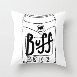 BUFF BEER Throw Pillow