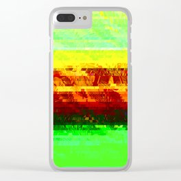 in the sunset Clear iPhone Case