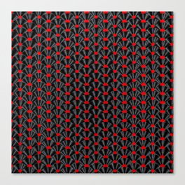 Covered in Vinyl / Vinyl records arranged in scale pattern Canvas Print