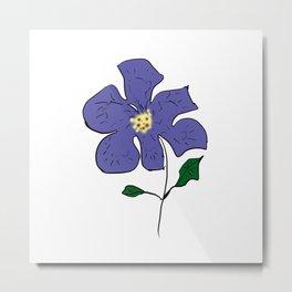 sketch of an indigo flower Metal Print