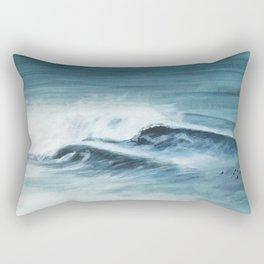 Surfing big waves Rectangular Pillow