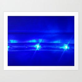 Blue Chase Art Print