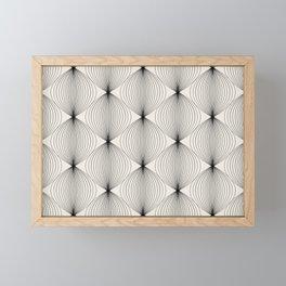 Geometric Orb Pattern - Black Framed Mini Art Print