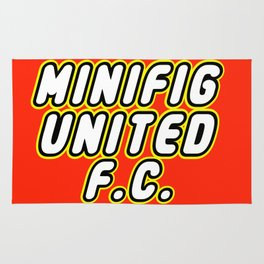MINIFIG UNITED FOOTBALL CLUB [F.C.] in Brick Font Logo Design by Chillee Wilson  Rug