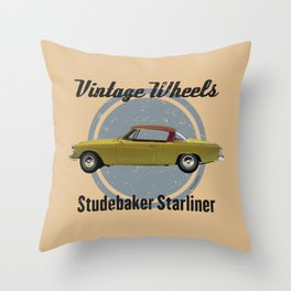 Vintage Wheels - Studebaker Starliner Throw Pillow