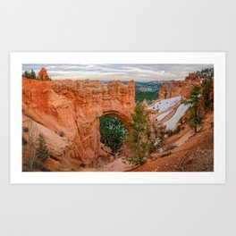 Natural Bridge Panorama at Bryce Canyon National Park Art Print