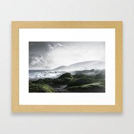 Sandy Beach, Hawaii Framed Art Print