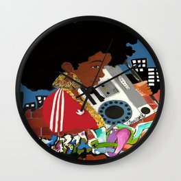 Old school Afro Wall Clock