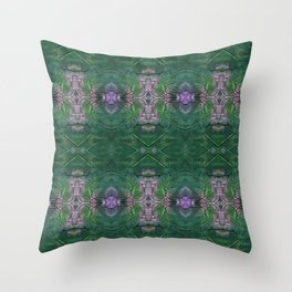 Pink and Green crosses Throw Pillow