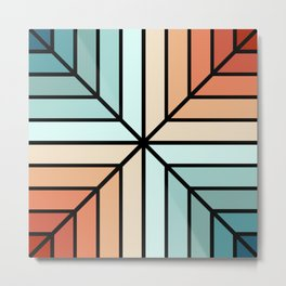 Colorful geometrical shapes Metal Print