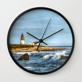 Soothing Ocean Sounds and Sights Wall Clock