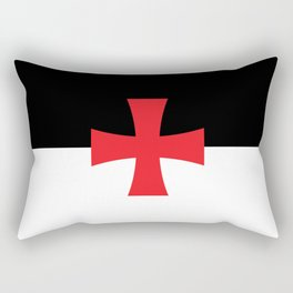 Knights Templar Flag - High Quality Rectangular Pillow