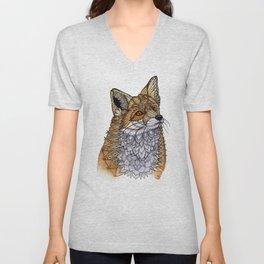 Fox Portrait Unisex V-Neck