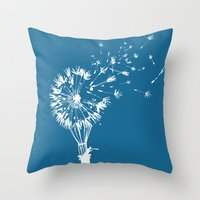 wind Throw Pillows featuring Going where the wind blows by Picomodi