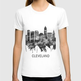 Cleveland Ohio Skyline BW T-shirt