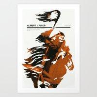camus Art Prints featuring Albert Camus print by Adam Juresko