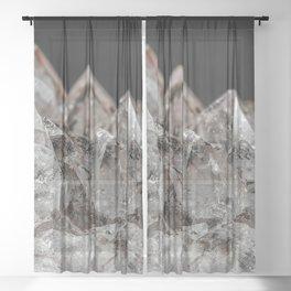 Crystal mountain Landscape Sheer Curtain