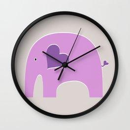 Lavender Elephant 2 Wall Clock