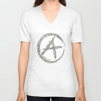 sons of anarchy V-neck T-shirts featuring Anarchy by Collectivo 2