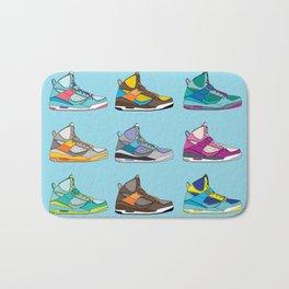 Colorful Sneaker set illustration blue illustration original pop art graphic print Bath Mat