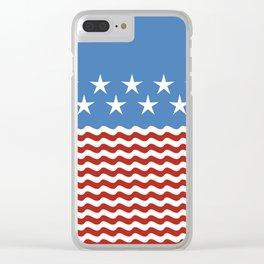 Patriotic Wave Clear iPhone Case