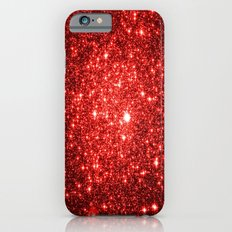 GalaXy : Red Glitter Sparkle Slim Case iPhone 6
