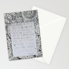 The Meaning of Life - Alan Watts Quote Stationery Cards