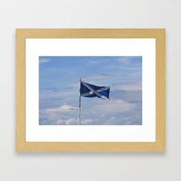 Scottish Flag Framed Art Print