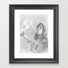 smoking guns Framed Art Print