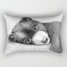 Sleepy bear Rectangular Pillow