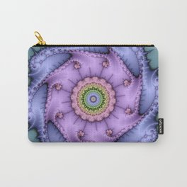 Magical zoomed fractal image in shiny pastel colours Carry-All Pouch