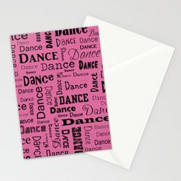 Just Dance - Pink Stationery Cards