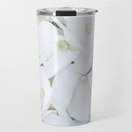 White hortensia flowers Travel Mug