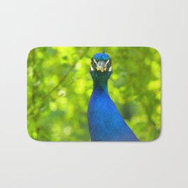 Peacock is watching you Bath Mat