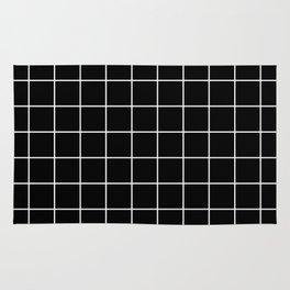 Square Grid Black Rug