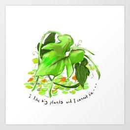 Big Plants Art Print