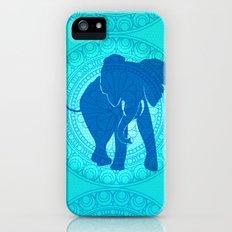Turquoise Elephant  Slim Case iPhone (5, 5s)