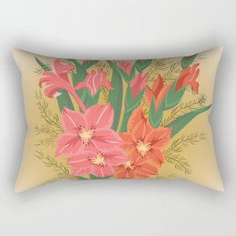 Bouquet of pink and red gladioluses Rectangular Pillow